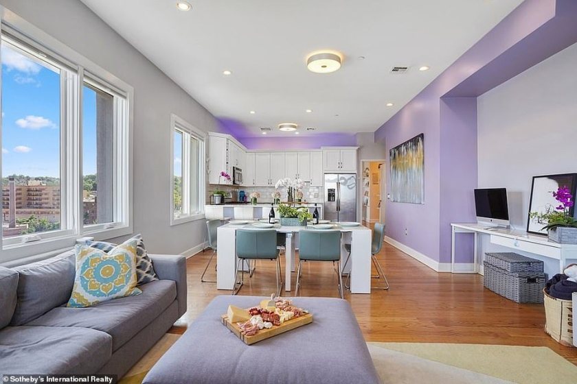 Wow factor:It certainly seems to be quite the different living situation from living in the basement of the home he snagged for $1.3million in 2016 with his mother Amy