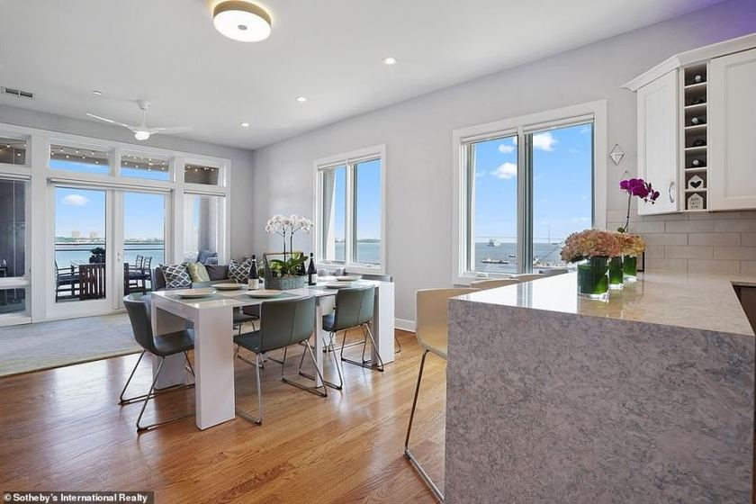Stunning:The high-rise is situated on the water and features stunning panoramic views of Manhattan