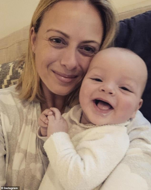 Pregnancy journey: The TV personality conceived her first son Oscar (pictured) via IVF, but has said her second pregnancy was 'spontaneous'