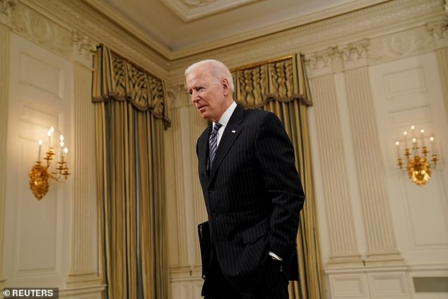Bidenalso said it was 'up to' The Masters whether they wanted to move the tournament from Augusta, just two days before the first round