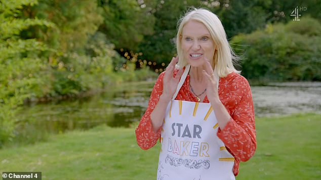 Congratulations: Anneka Rice was crowned Star Baker during the final episode Great Celebrity Bake Off on Tuesday evening