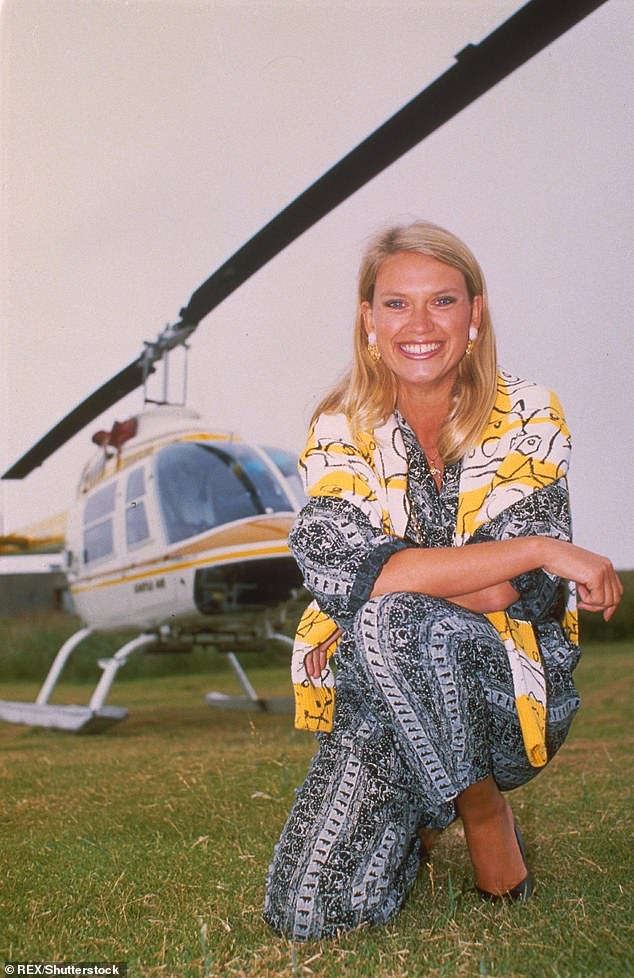 The way she was: Anneka featured on the game show between 1982 and 1988 (pictured in 1988)