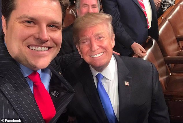 Donald Trump on Wednesday said Gaetz 'never' asked him for a pardon and offered a tepid defense of the embattled Florida Republican