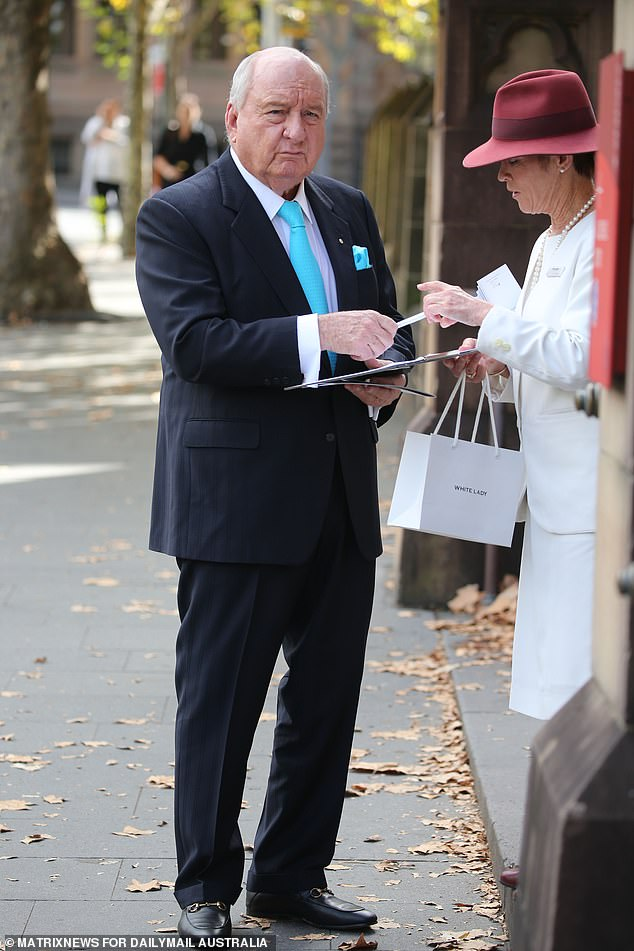 The cream of Australia's broadcasting industry has gathered for the funeral of radio legend John Brennan (Alan Jones pictured)