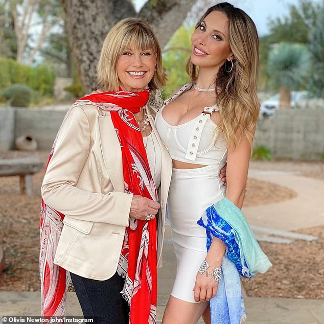 Sad past: Chloe has previously battled health problems and sought treatment for eating disorders and drug addiction. Pictured with mother Olivia Newton-John