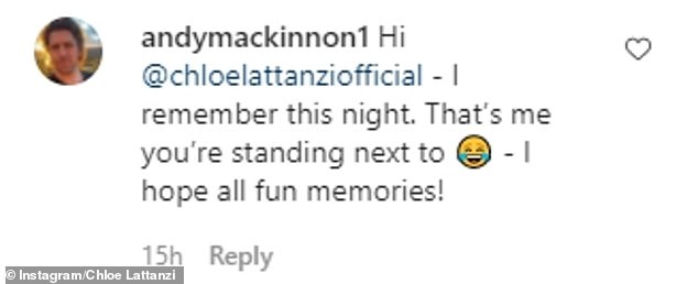 'That's me you're standing next to': Andy Mackinnon barely recognised himself as he commented on the photo from 15 years ago. Pictured above in 2019