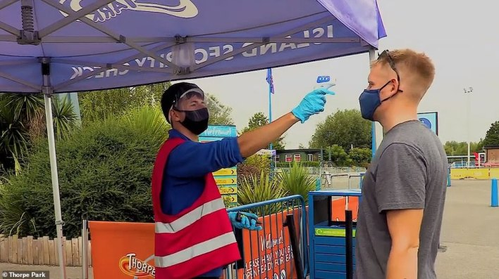 Visitors to Thorpe Park will be given a temperature check at the entrance before they are allowed into the site
