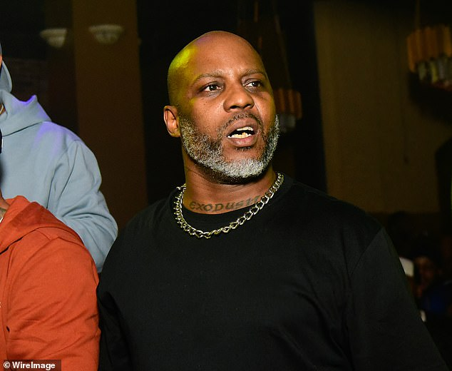 Tragic: The children of rapper DMX have rushed to his bedside in the ICU to visit their father for what is thought to be 'a final goodbye' as he remains on life support following a heart attack, TMZ reported on Monday