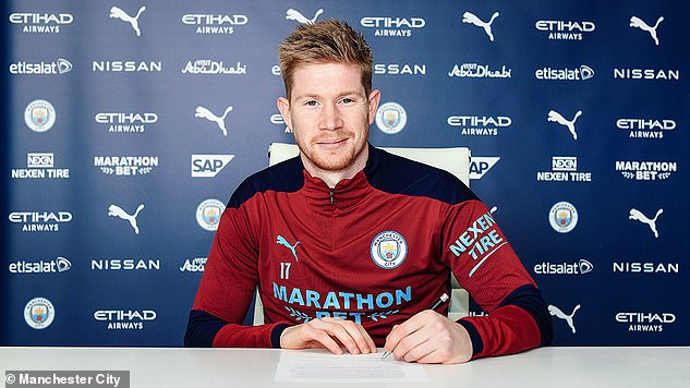 Kevin De Bruyne signed a new bumper four-year deal at Manchester City back in April
