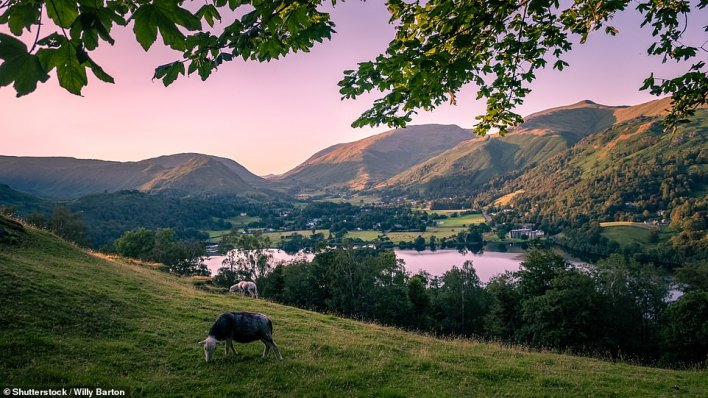 Guests can admire the views of Grasmere in the Lake District, pictured, from the shepherd's hut at theVictorian House Hotel