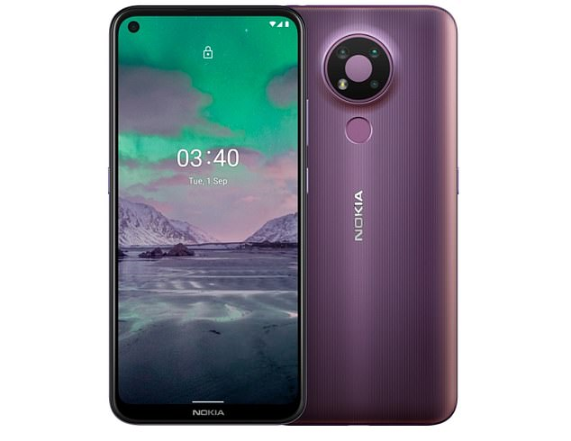 Nokia 3.4 (pictured) is 'built for streaming', according to its maker, and usually retails for £129. Tesco has four of the handsets available for people who order gnocchi