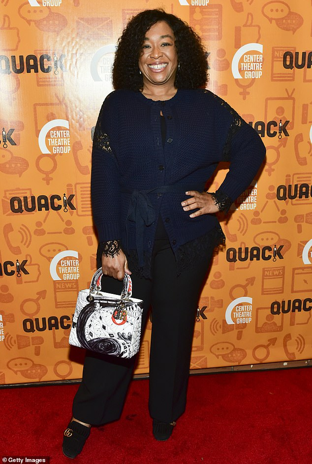 Page landed a spot in US Crime series For the People, based on the writing of hit screenwriter and author Shonda Rhimes (pictured) - the mind behind Bridgerton