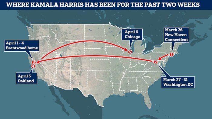 Since being appointed Border Czar, the Vice President has jetted all over the US without visiting the 'humanitarian crisis' in the south
