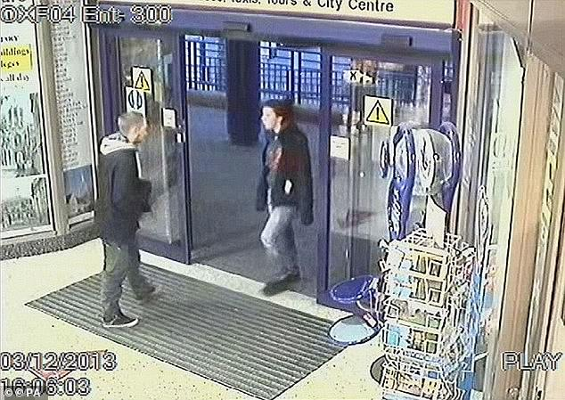 Blakeley was captured on CCTV at Oxford train station with Jayden. Both arrivedat Didcot train station in December 2013