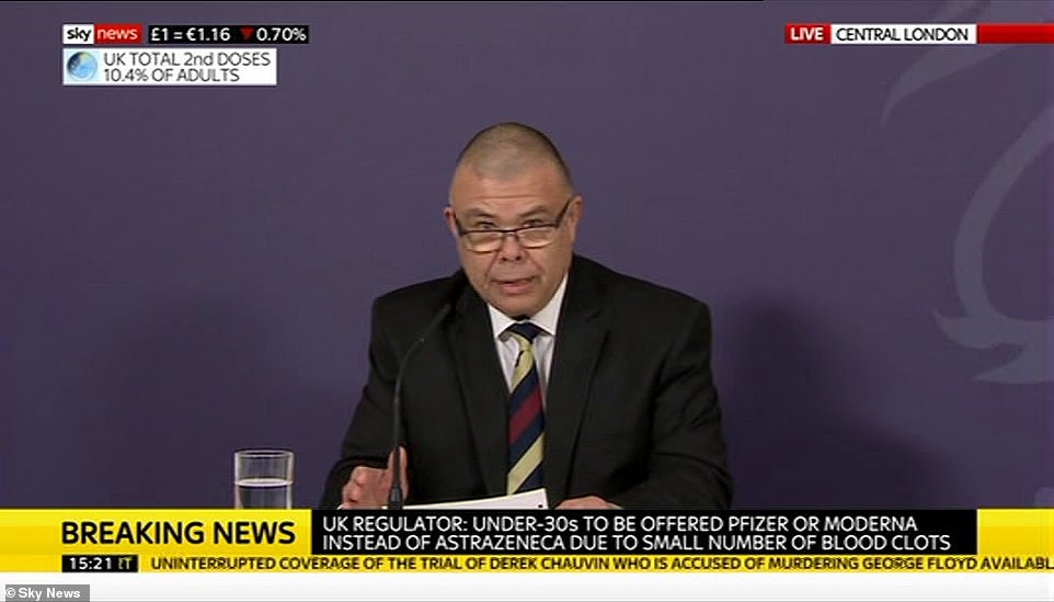 Jonathan Van-Tam, England's deputy medical officer, led a press conference this afternoon, where it was announced the AZ vaccine is being restricted in under 30s