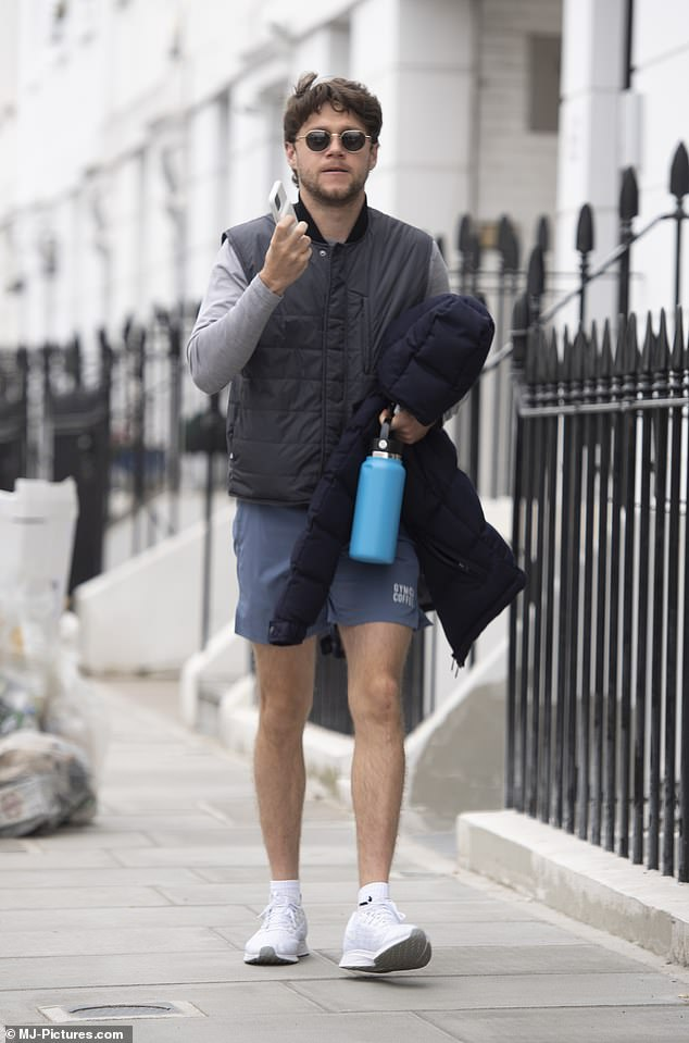 Nippy? The Slow Hands hitmaker didn't same fazed by the freezing weather as he stepped out in shorts and a gilet while running errands in the capital