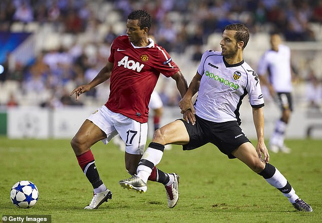 The striker came up against Manchester United for Valencia in the 2010-11 Champions League
