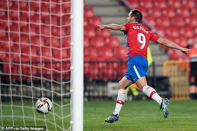 Spanish striker Soldado has scored 11 goals in all competitions for Granada so far this season