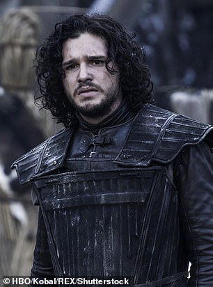 New look: Liam was a dead ringer for Jon Snow as he ditched his usual clean shaven look in favour of a far more rugged appearance on Wednesday [pictured 2011]