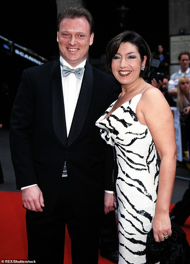 A case of the ex: Jane went on to marry twice; first in 1987 to a man called Paul for one year, and then to Danish engineer Henrik Brixen from 1998 until 2002 (Pictured with Henrik in 1999)