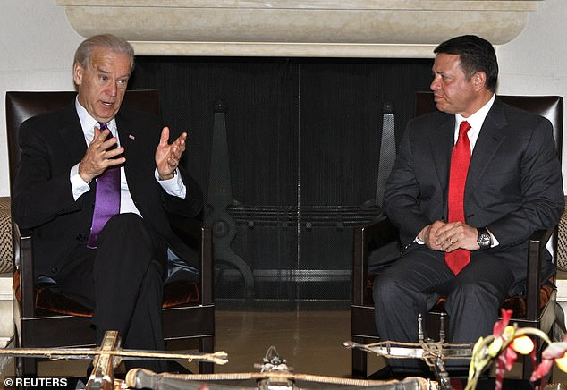 Biden, pictured as vice president in 2010, vouched for Abdullah during a time of turmoil in the kingdom