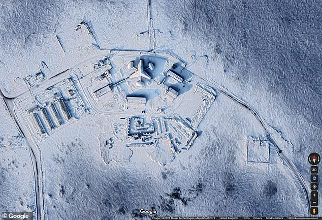 Putin wants the 2M39 deployed in the Arctic by the summer of 2022 and, according to Russian media reports, has asked his defence ministry to keep him closely informed of tests that started in February and will continue this year. Pictured:Russia's Arctic Nagurskoye Air Base
