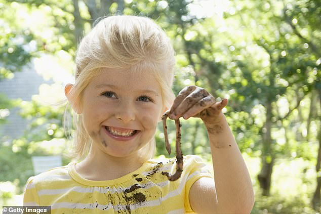 Mother-of-four Clare also said that children have been missing the chance to grub about in the dirt during the Covid-19 pandemic, which is good for their immune systems (stock image)