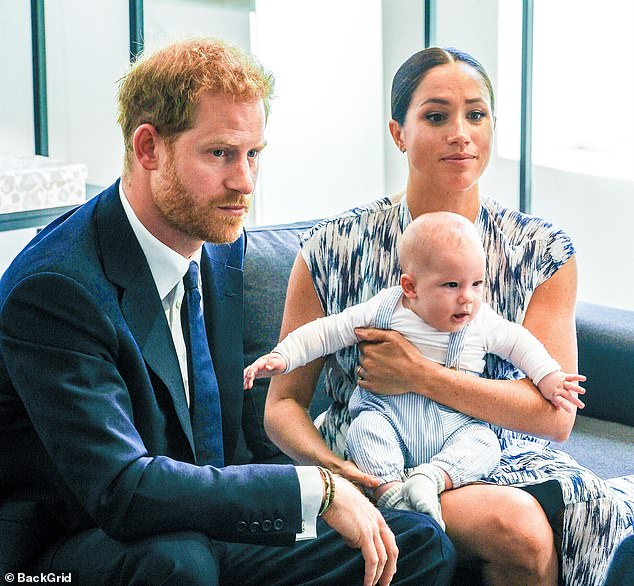During Meghan and Harry's bombshell interview with Oprah Winfrey last month, the duchess claimed that someone in 'The Firm' had raised 'concerns' about 'how dark' Archie's skin would be before he was born because she is mixed-race and Harry is white