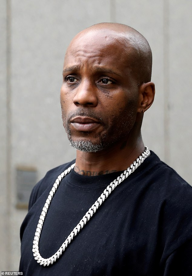 The news came after it was reported DMX had 'not regained any brain function' and his condition had not improved after a series of tests that were performed Wednesday [File photo]