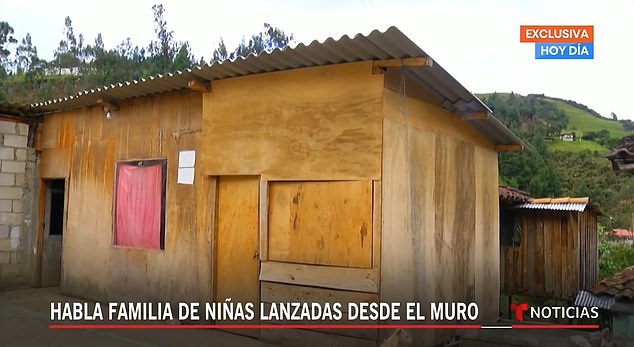 Parents Yolanda and Diego, with daughters Yareli and Yasmina, lived in this wooden home