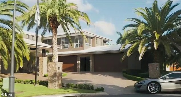 Helensvale's house, right next to the Gold Coast canals, was only listed for $ 3.3 million, although Dennis said he would prefer '$ 50 million'