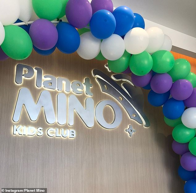 Visitors can book party packages at Planet Mino (pictured), which include90 minutes of free play, a reserved table in front of the playground and kids' food cooked by the in-house chef
