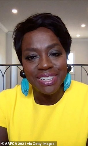 Viola Davis pictured Wednesday