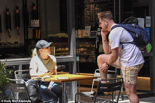Spotted: Daily Mail Australia spotted Bryce and Melissa at the cafe just around the corner from their apartment at the Skye Suites complex