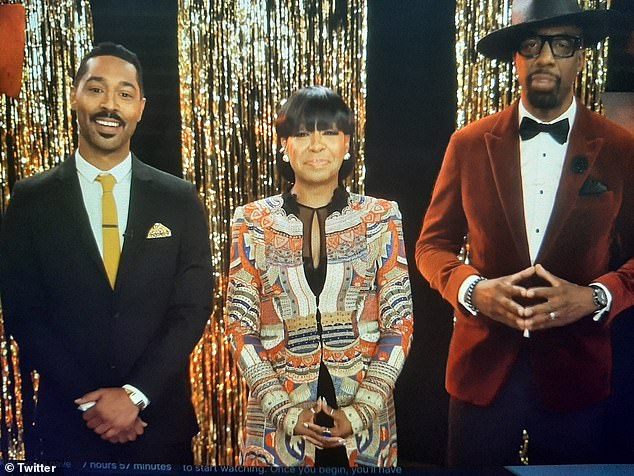 Emcees:The 2021 AAFCA Awards were hosted by (from L-R) The United States vs. Billie Holiday actor Tone Bell, The Neighborhood actress Tichina Arnold, and Curb Your Enthusiasm funnyman JB Smoove