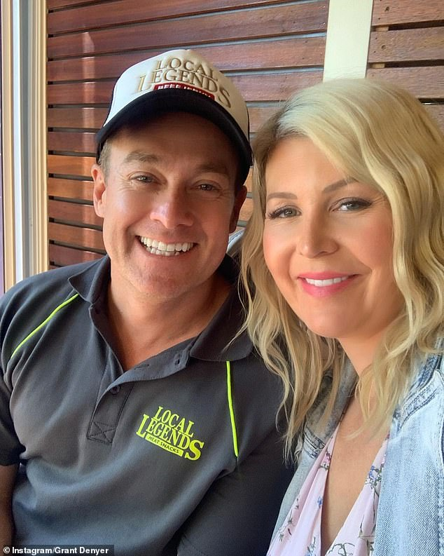 Busy: The Denyers recently moved into Chezzi's parents' house in Bathurst as their home undergoes renovations, which were due to take place last year, but were postponed due to the unexpected pregnancy of Covid-19 and Chezzi .