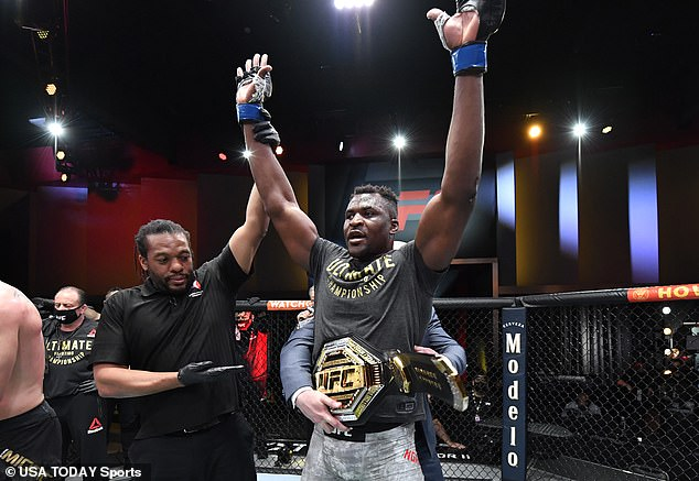 A mega-fight with heavyweight king Francis Ngannou is a slow mover due to a row over pay