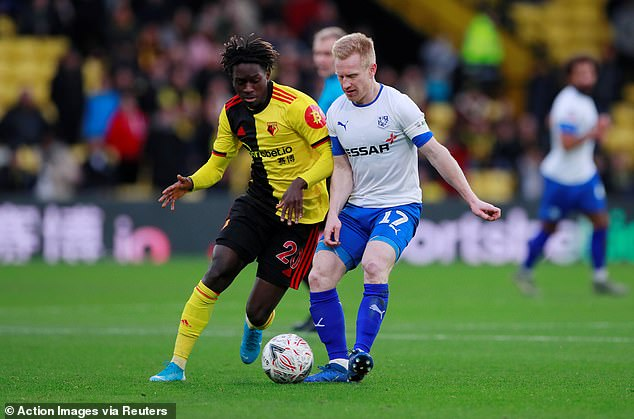 The terms of Quina's loan from Watford mean he is ineligible for the two games with United