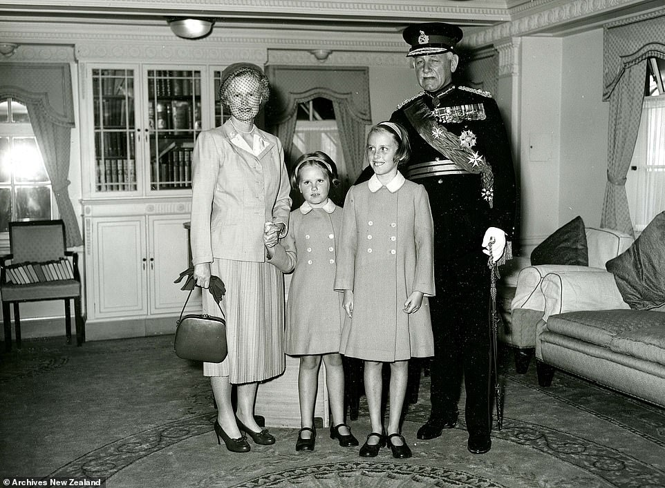 Sir Willoughby Norrie with his wife Patricia Merryweather Bainbridge, whom he married in London in 1938, and their children