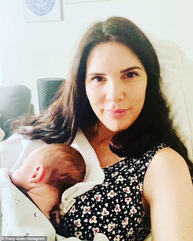 'Happy due date to you little one!' Former Married At First Sight star Tracey Jewel has celebrated her newborn son Frankie's due date after he arrived three weeks early