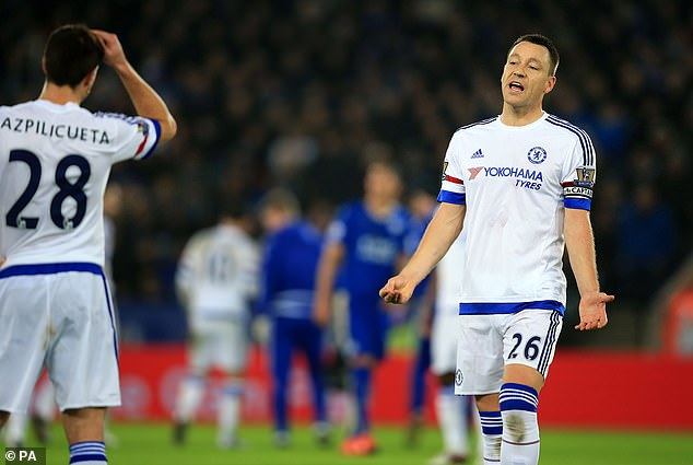 There was further criticism of Terry by Savage following Chelsea's loss at Leicester