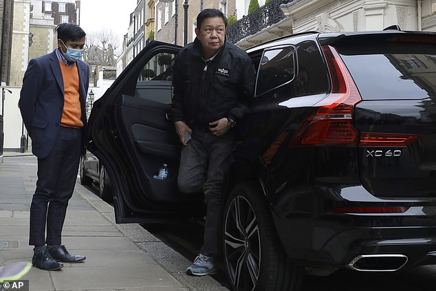 Minn was locked out of Myanmar's Mayfair embassy building by his mutinous staff on Wednesday night, and forced to sleep inside a black Volvo XC60 parked outside