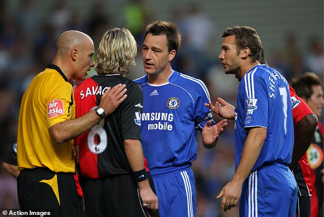 The two players square up once again during a Chelsea vs Blackburn clash the following year