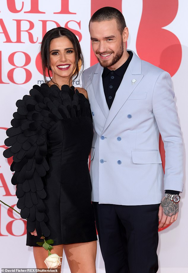 Friendly exes: Liam and Cheryl split back in July 2018, just 16 months after welcoming their son Bear, but the pair have remained on friendly terms (pictured together in February 2018)