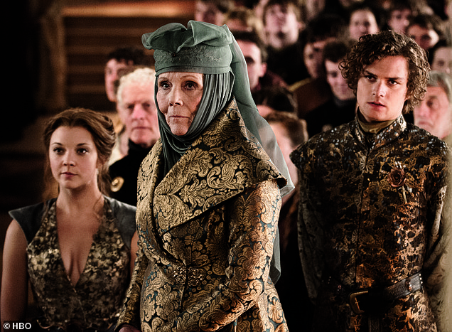 Career: Rigg made a name for herself in the cult 1961 TV series The Avengers, before playing the role of relentless matriarch Lady Olenna Tyrell on HBO's Game of Thrones, a show she later admitted she did. had never watched (photo)