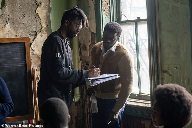 First price!  The biopic on Black Panther Chicago president Fred Hampton also won the Best Picture award and filmmaker Shaka King (left) took home the Breakout Director's Award