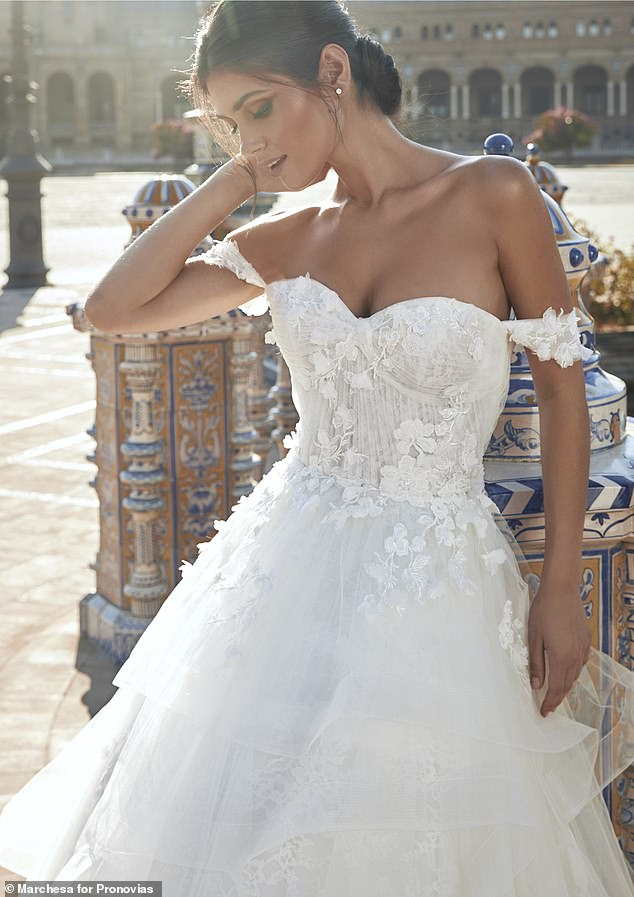 'In Pronovias we have found the perfect partner aligning with our core values of craftsmanship, quality and attention to detail, along with unmatched bridal expertise,' shared Georgina
