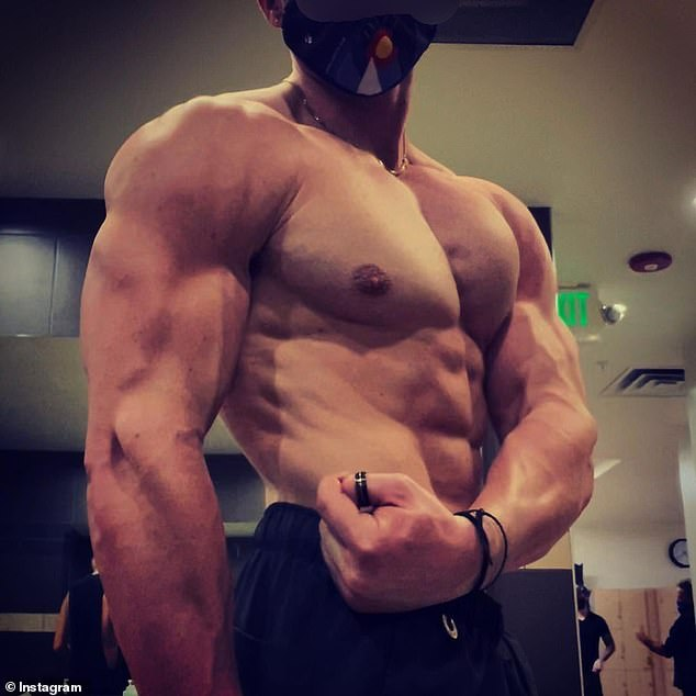 'Jacked': Jrey frequently shares gym selfies and workout pictures in which he proudly flaunts his own muscular physique