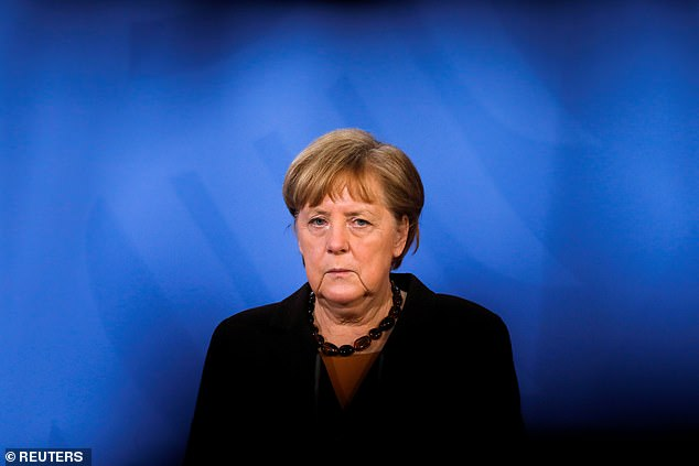 German Chancellor Angela Merkel advised Vladimir Putin to pull his forces away from the border during a phone call on Thursday. Putin insisted his actions were defensive
