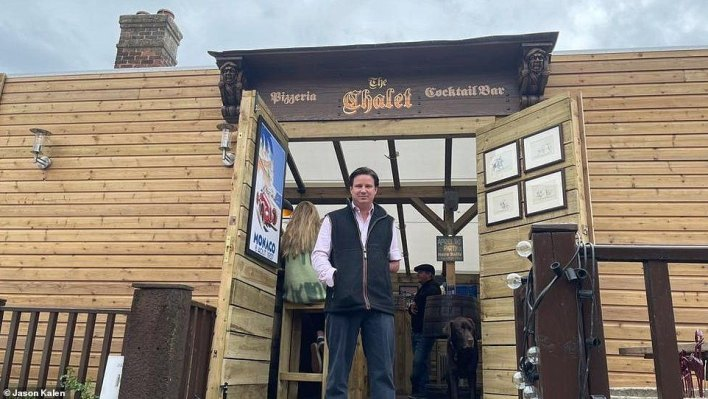 Jason Kalen, who runs The Marlborough in Wiltshire, was furious at receiving an email a week before the venue's reopening on Monday to say that using the new chalet would be against the law.